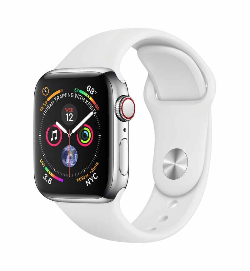 Apple Watch Series 4 40mm Silver / Sport White