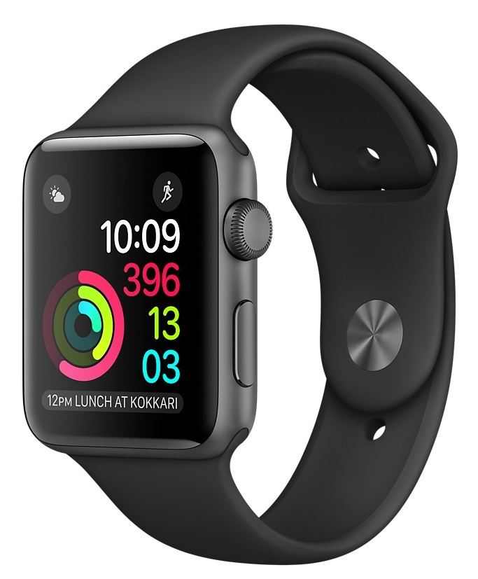 Купить Apple Watch Sport Series 2 42mm Space Gray with Black Sport Band в Ростове-на-Дону
