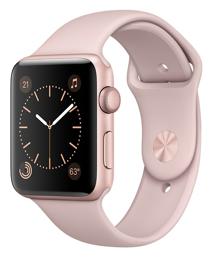 Apple Watch Sport Series 1 42mm Rose Gold with Pink Sand Sport Band