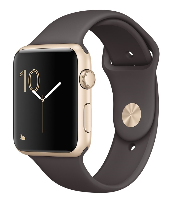 Apple Watch Sport Series 1 42mm Gold with Cocoa Sport Band