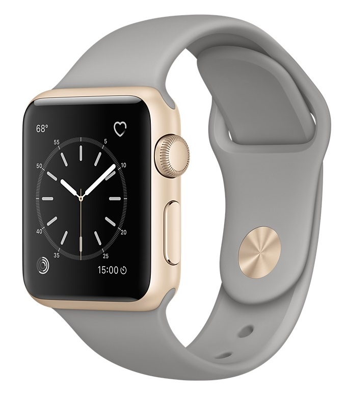 Apple Watch Sport Series 2 38mm Gold with Concrete Sport Band